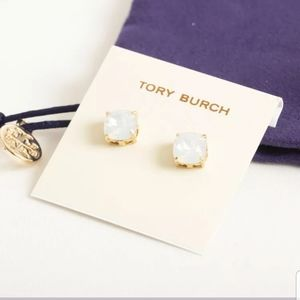 New-Tory Burch Goldtone, Crystal Stud Earrings